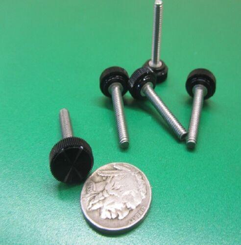 "25Pc Plastic Black Stainless Thumb Screw 1//2/"" Head Dia x  8-32  x 1.0/"" Length"