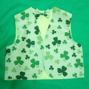 c2973c6e7b3c Kids Boys Girls Shamrock Irish Waistcoats Fancy Dress 2-4 6-8 10-11 ...
