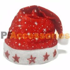 Christmas Holiday Santa Hat with 5 LED Light Up Party Adult Costume Accessory
