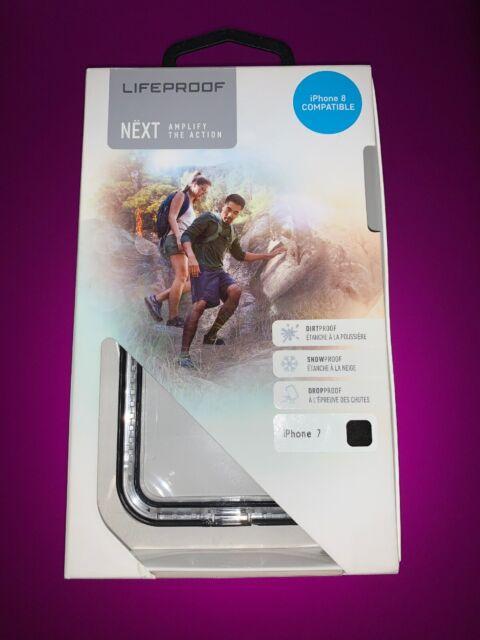 Genuine Lifeproof Next Case Fit iphone 7/8 - Clear/Black | Tough Case| (7757190)