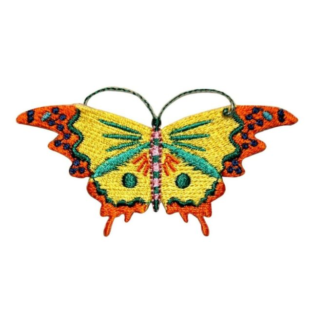 ID 2195 Summer Butterfly Patch Garden Bug Insect Embroidered Iron On Applique
