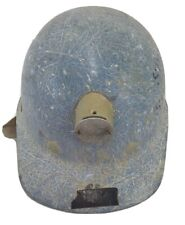 Vintage Superglas Fibre Metal Fiberglass Coal Miners Hard Hat With Light Mount