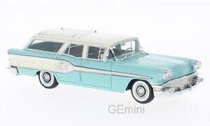NEO 46255 - Pontiac Star Chief Safari turquoise/blan<wbr/>c - 1958    1/43