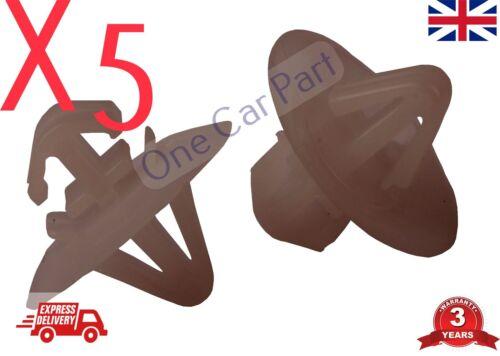 5 X clips pour RENAULT TRAFIC TRAFIC Côté moulage//Lower Protection Garniture Porte