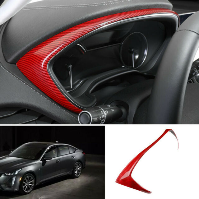 For Cadillac Ct5 2019-2020 Red Carbon Fiber Dashboard