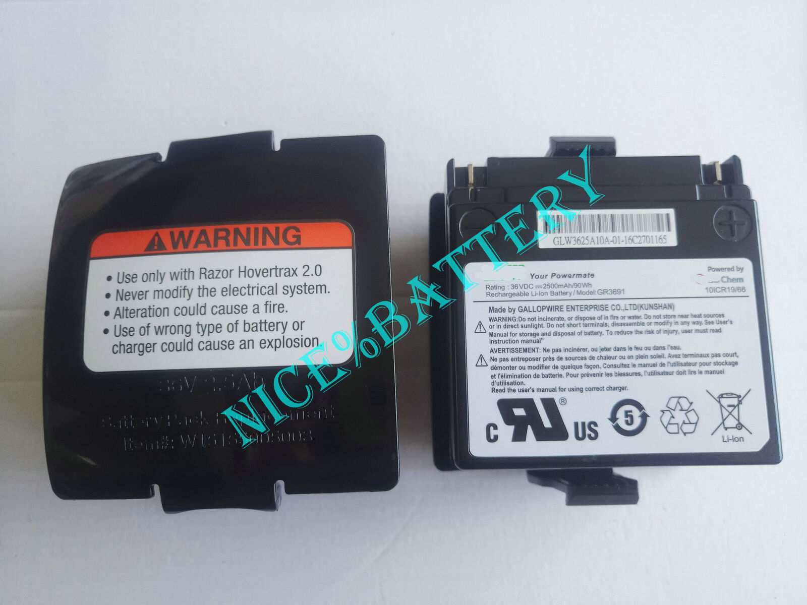 New Genuine GR3691 For GLW LG Razor Hoverderax 2.0 Battery Balance car Scooters