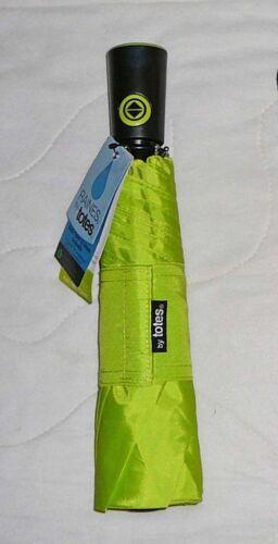 Raines Totes Auto Open Close Umbrella L Large Coverage Black Print Mini Compact