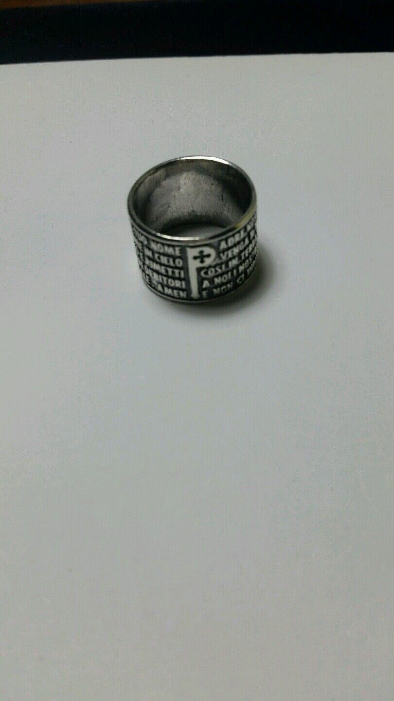 Anello padre nostro tuum silver 925