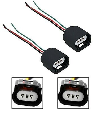 Wire Pigtail Female Ceramic 9008 H13 Two Harness Headlight Bulb Wiring  Connector   eBayeBay