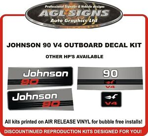JOHNSON-90-HP-V4-Outboard-Decal-kit-reproductions-also-115-120-130-140-hp