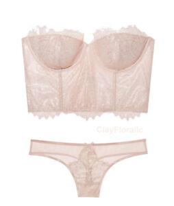 2950029cff Victoria s Secret Dream Angels Floral Long line strapless demi bra ...