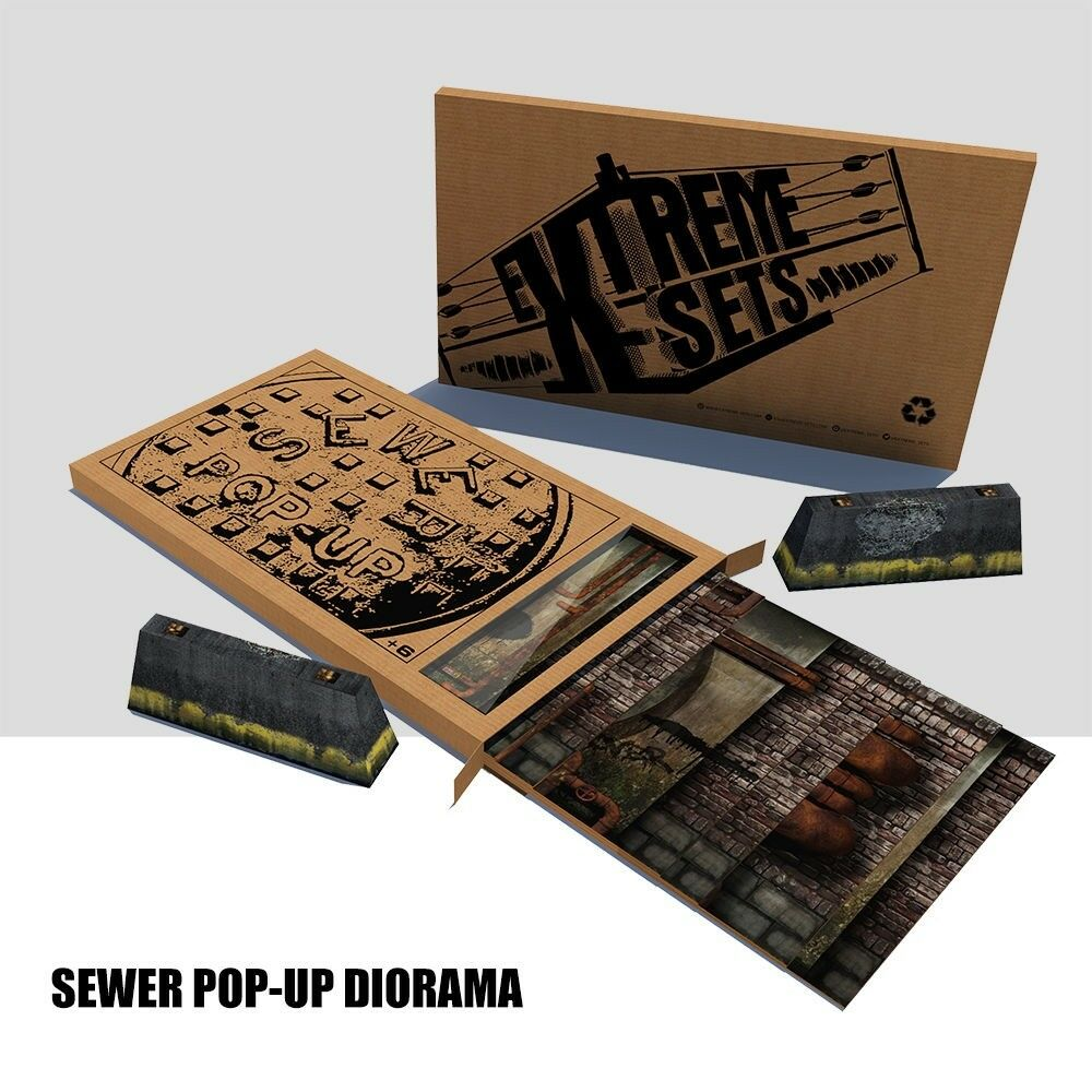 Extreme Sets Sewer Pop-Up  series 1  Diorama Environment  for 1/12 scale figures