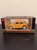 Redbox 1966 1/24 Yellow Volkswagen Beetle Toy Car (new In Box)