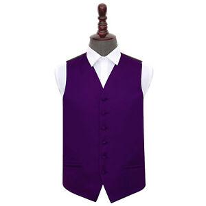 DQT-Satin-Plain-Solid-Purple-Formal-Tuxedo-Mens-Wedding-Waistcoat-S-5XL