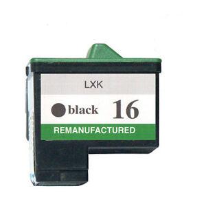 Non-Oem-Ricambio-per-Lexmark-16-Nero-Z601-Z602-Cartuccia-di-Inchiostro