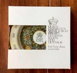 Crown Staffordshire 1977 Silver Jubilee Queen Elizabeth II Dish Fine Bone China