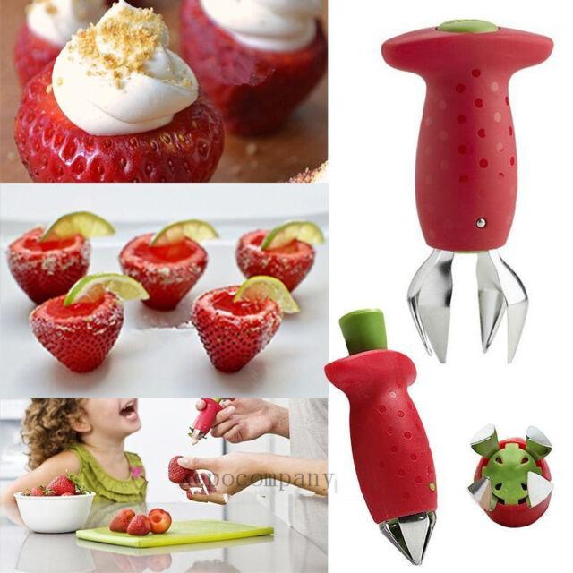 Strawberry Stem Leaves Huller Removal Stalks Fruit Corer Kitchen Gadgets Tools