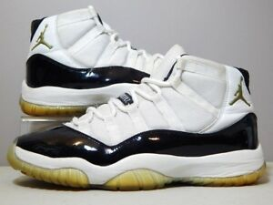 new concept 12ac5 08042 Details about Nike Shoes - 2005 Jordan 11 XI DMP - Black White Gold Concord  Pack - Size 9