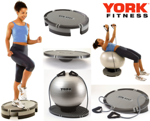 York-Fitness-4in1-Aerobic-Step-includes-Gym-Ball-Resistance-Bands-amp-Workout-DVD