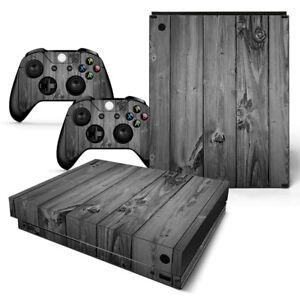 Grey Wood Motiv Faceplates, Decals & Stickers Special Section Xbox One X Skin Design Foils Aufkleber Schutzfolie Set Video Game Accessories