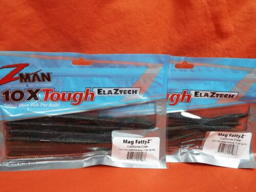 "2 pk Z-MAN 7.25/"" MAG FATTY Z 6 cnt//12 tl #FAT725-268PK6 CALIFORNIA CRAW"