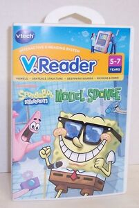 NEW-V-Reader-034-Sponge-Bob-Model-Sponge-034-Interactive-E-Reading-Cartridge-2879