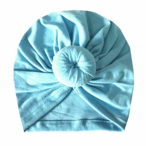 Cute Donut Cap Newborn Kid Baby Toddler Girl Indian Turban Twist Knot Beanie Hat