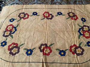 Vintage-Primitive-Rug-Hooking-Pattern-034-Lahaska-Rose-034-No-3468