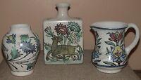 Pottery Barn Iznik Mini Vases Small Urn Rectangular Vase Small Pitcher