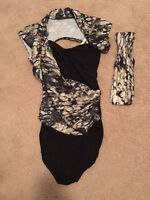 Weissman Adult Large Black Camo Jazz Tap Acro Dance Costume