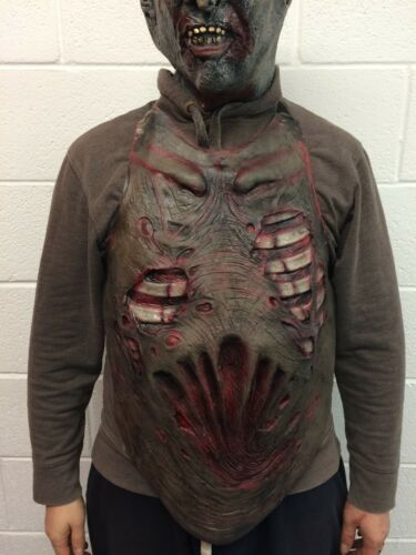 Zombie Torso Chest Piece Halloween Fancy Dress Zombie Guts Heart Vest Gore Apron