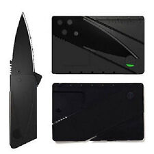 Camping Credit Card Folding Pocket Knife Ultra Thin Stainless Steel Blade Tool