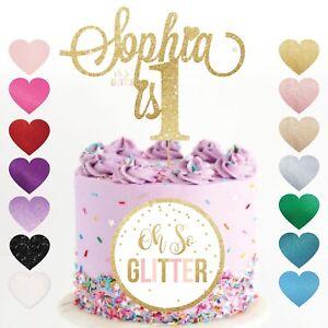 Image Is Loading 1st Name Cake Topper 1 Glitter Custom Personalised