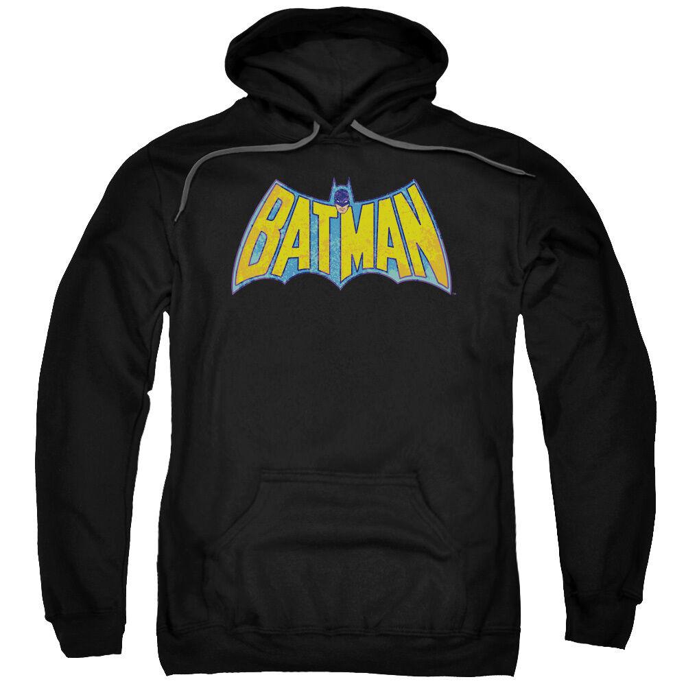 BATMAN CLASSIC ORIGINAL NEON DISTRESSED LOGO Licensed Sweatshirt Hoodie
