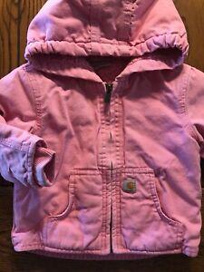 Carharrt Redwood Jacket Sherpa Lined Pink Hooded Girls ...