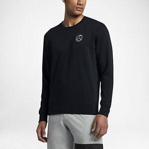 Air Jordan 8 Fleece Crew Men's Sweatshirt Black/White