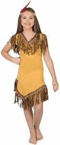XL M L S Native American Princess Maiden Costume Dress Girls Childs Indian