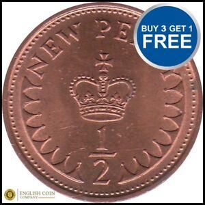1971-a-1983-Elizabeth-II-Penny-decimale-la-moitie-de-choisir-votre-date