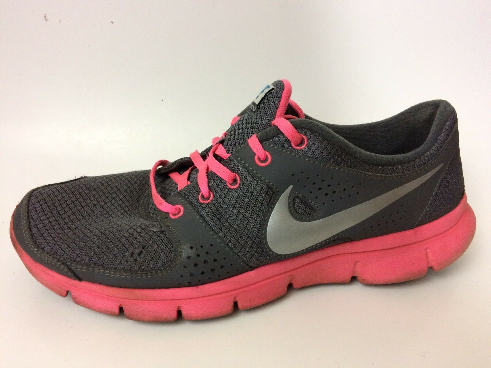 NIKE FLEX Experience RN Womens 11 M Running Athletic Shoes 525754-007 Pink Gray