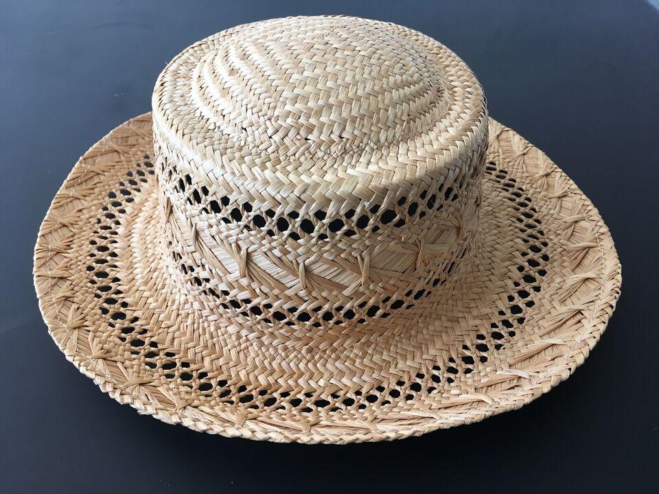 Hat, Strråhat med hulmønster, LifeStyle