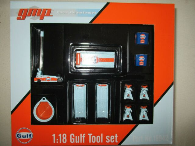 Set' Tools Miniatures Of Garage Gulf 1/18 Gulf Tool Set GMP 18942