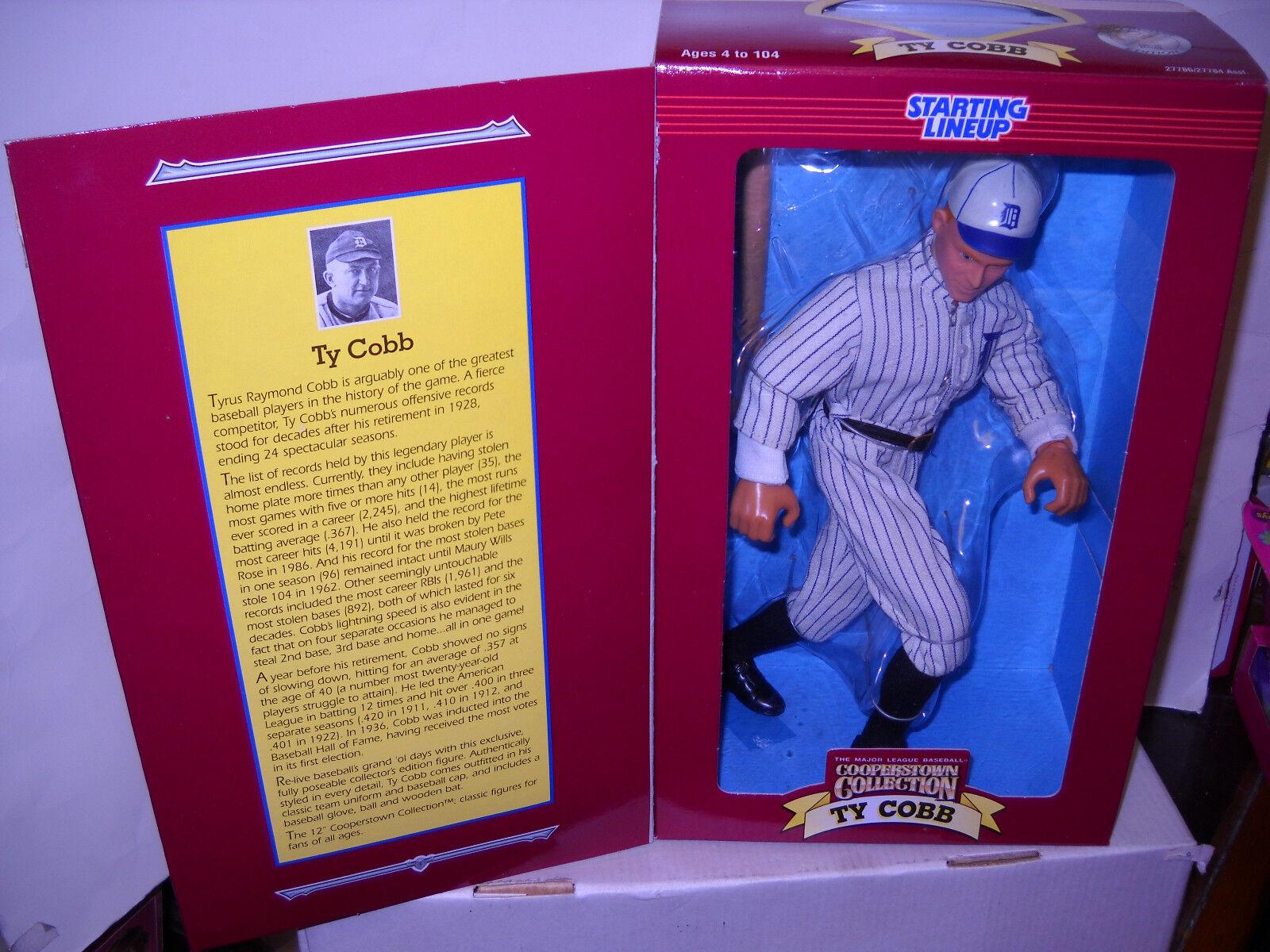 NRFB Hasbro Starting Lineup Baseball 12  Ty Cobb Figure