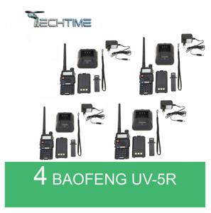 4X-BAOFENG-UV-5R-VHF-UHF-DUAL-BAND-RADIO-130-176-400-520-Mhz-RICETRASMITTENTE