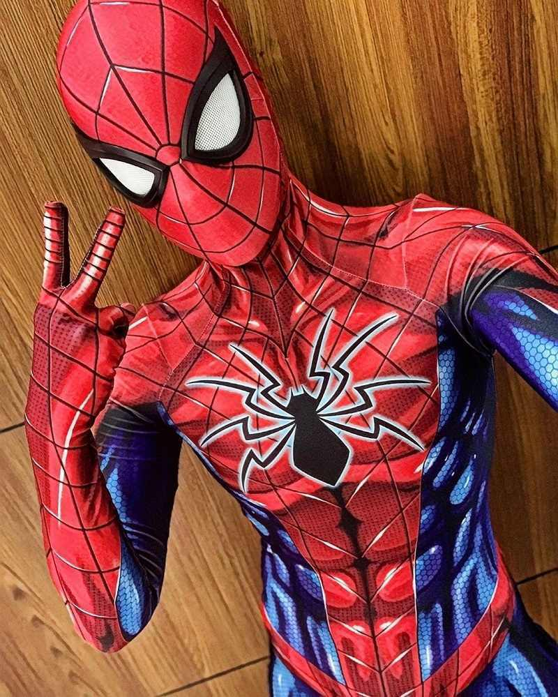 ALL NEW Spider-man Jumpsuit Spiderman Cosplay Costume For Adult Kids Halloween