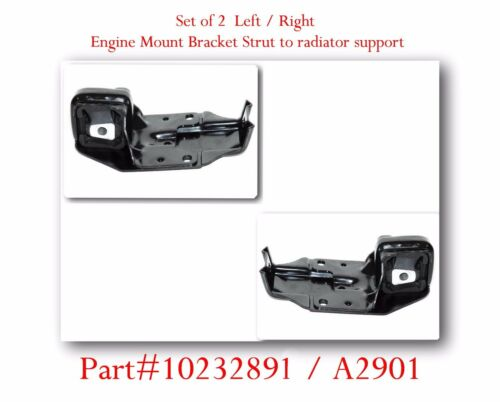 4 Pc Engine Mount Bracket Strut to radiator support /& Torque Strut Front Fit GM