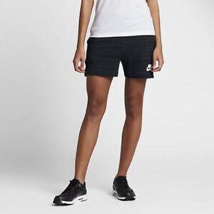 Nike Women s Sz Sm - ADVANCE 15 KNIT SWEATSHORTS - Black 837456 010 ... d3da8723eb