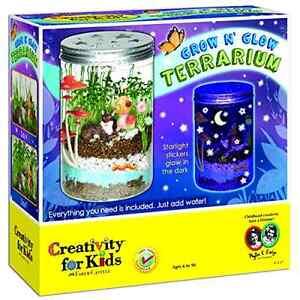 Creativity for Kids Grow 'n Glow Terrarium Educational Fun Kids Toy Nature Kit