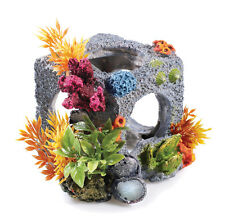 Aquarium BiOrb Fish Tank Ornament Cubic Habitat Rock Cube Cave Decoration