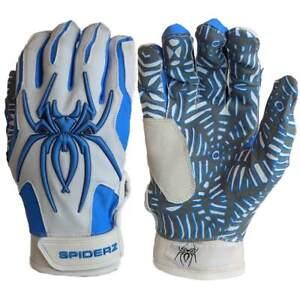 Red//White//Blue Spiderz HYBRID WEBTAC PALM Batting Gloves Captain America XXL