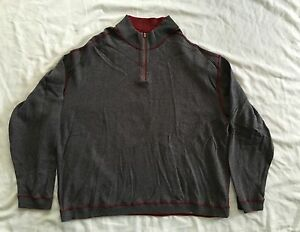 KIRKLAND Reversible Men Pull Over Sweater Size XLarge Red/gray Color SS6